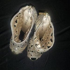 bebe Shoes - Gold Gladiator Heels